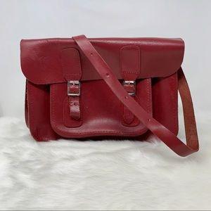THE OXFORD BAG leather crossbody satchel oxblood